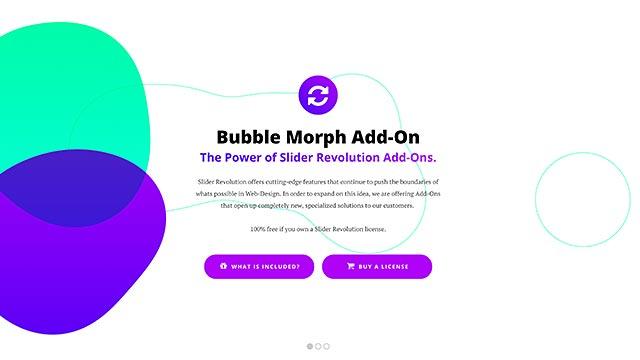 Bubble Morph Effect Slider Template - Slider Revolution