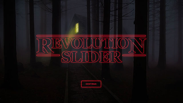 80's Style Intro Hero Hero - Slider Revolution WordPress Builder